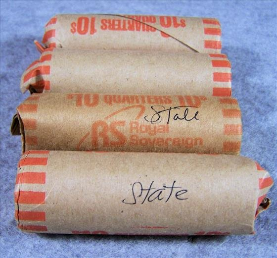 Four Rolls US Clad State Quarters