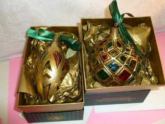 2 Waterford crystal Holiday Heirloom ornaments with