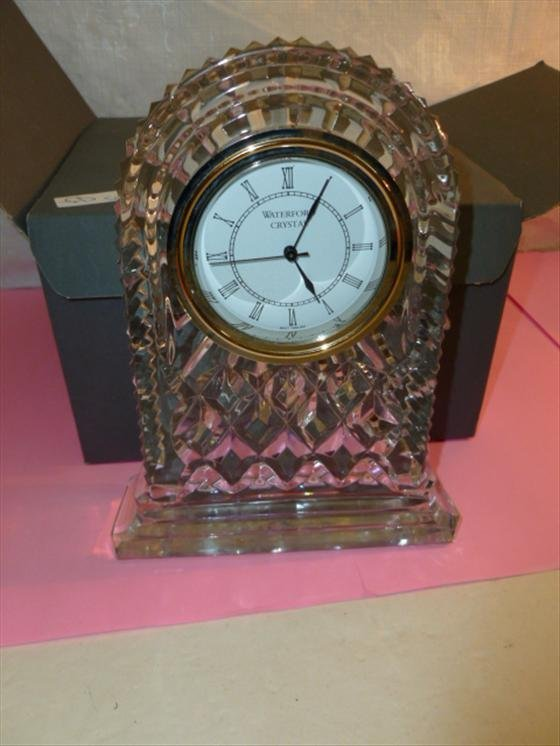 Waterford crystal clock- Archive Large with the box-7
