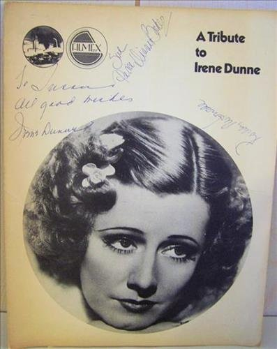 Book autographed by Irene Dunne-Tribute to Irene