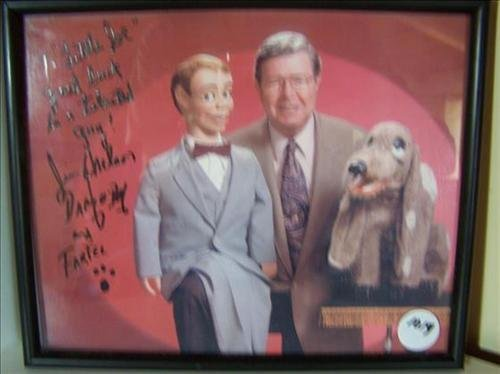 Jimmie Nelson & Farfel autographed picture colored