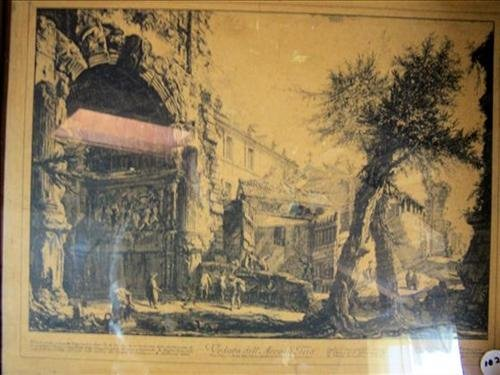 Etching under glass -Piranesi-17 by 21  scenes from