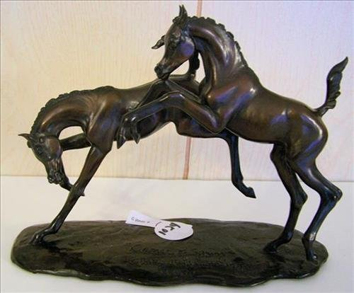 Bronze sculpture prancing horses- Dancers of Spring-