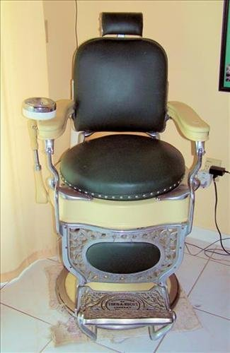 Barber chair Hydraulic by Theo Kochs Chicago- restored