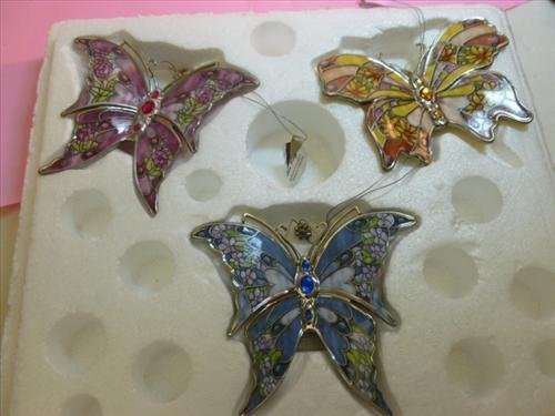 3 pc Butterflies- w/COA- Woodbine Fancy-Pretty Pansy