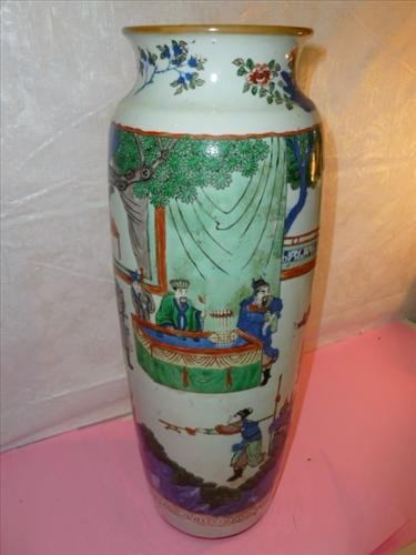 Large oriental Chinese porcelain  style vase 17
