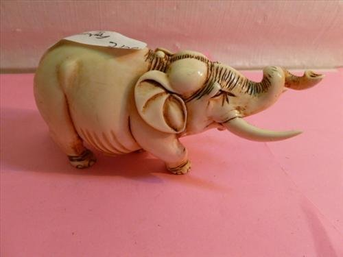 Solid heavy large carved Ivory Bone?? Elephant 3 by 5-