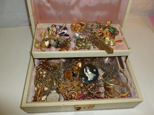 Large jewelry box full of assorted jewelry all kinds