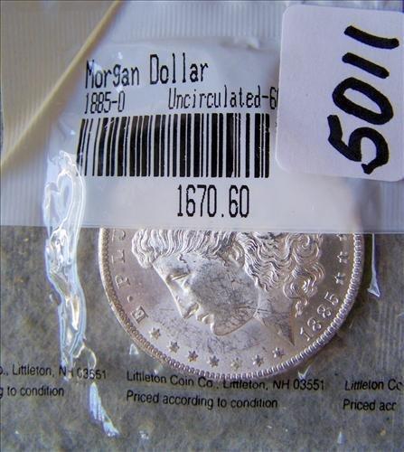 1885O Morgan Silver Dollar MS-60