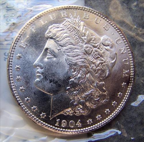 1904O Morgan Silver Dollar MS-60