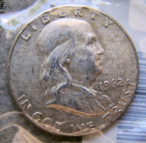 1962D Franklin Silver Half Dollar VF