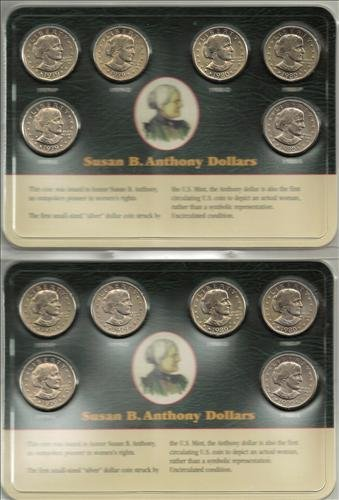 Two Sets Susan B. Anthony 1979 & 1980