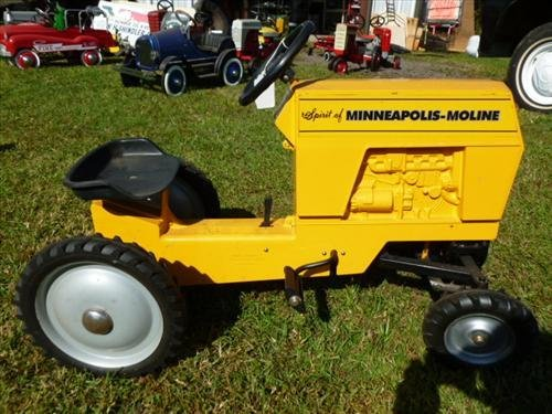 Yellow pedal tractor Spirit of Minneapolis Moline-