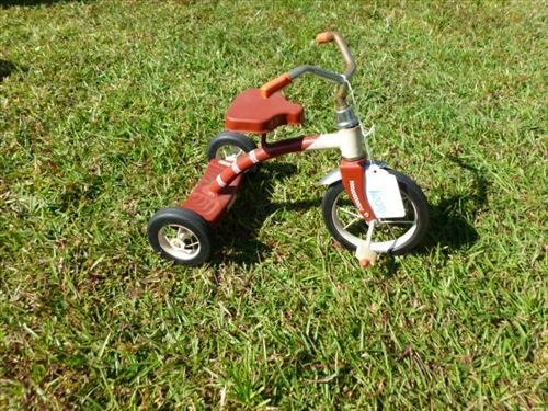 "Speedway series  small tricycle iron -11"" doll toy"