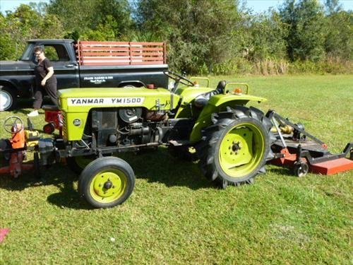 Ymar 1500 Yanmar tractor & bush hog runs-5 ft MR150