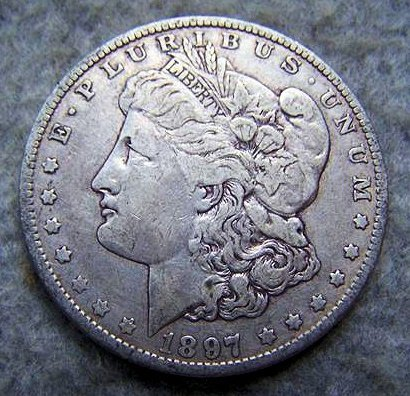 1897O Morgan Silver Dollar