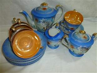Blue dragon ware tea & cake set made in Japan- 21 pc