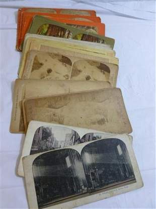 Stereo scope cards 16 pc blk and white and color