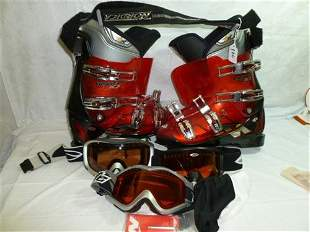 Ski boots and 3 prs-Arnette goggles- Beast