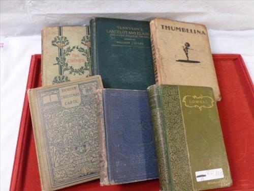 Vintage books- 6 pcs- Dickens Christmas carol and