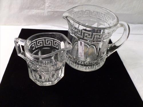 2 piece Heisey large creamers /pitcher- marked