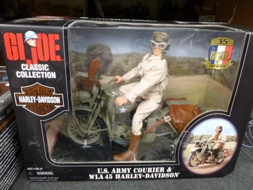 GI Joe Harley Davidson- US Army Courier- WLA 45 Harley