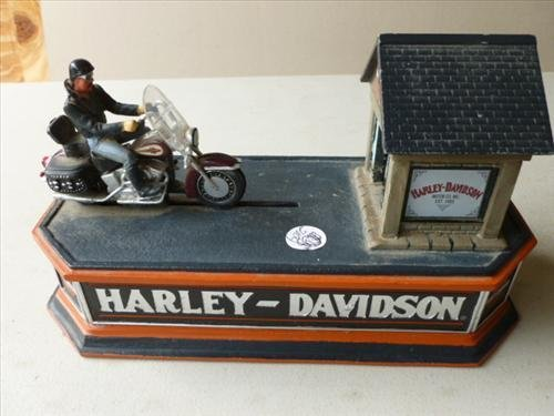 Iron mechanical  bank- Harley Davidson-The Franklin
