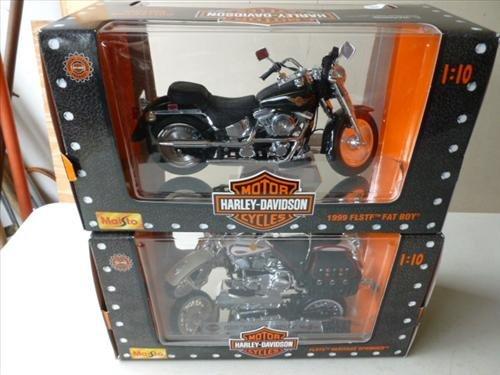 2 New in box- Harley Davidson Maisto- 1999 Fat Boy and