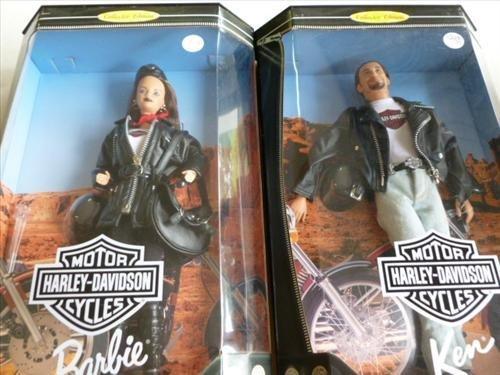 2  Harley dolls Barbie and