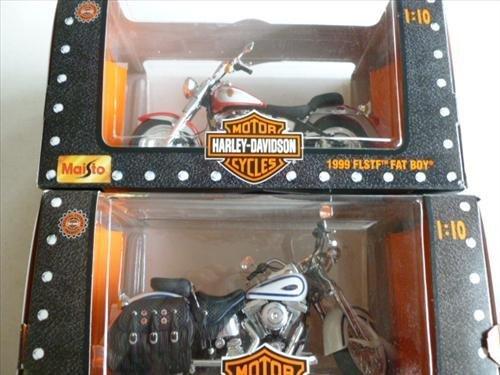 2 HD Motorcycles-NIB- Maisto Heritage Springer & Fat