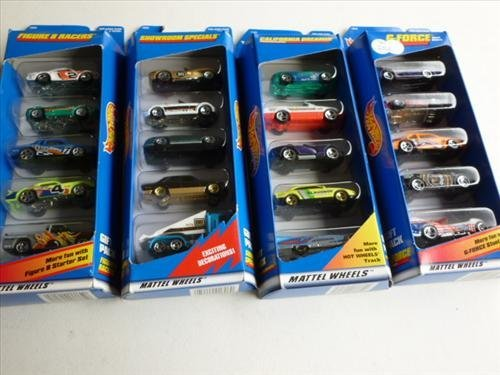 4 gift packs sealed-Hot wheels-1997 Mattel-