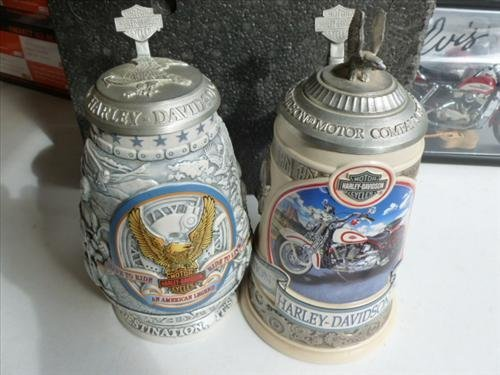 2 Harleys Steins- Evolution-V-Twin  1998 and Live to