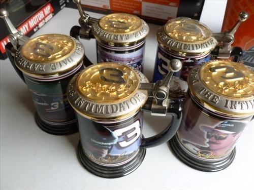 5 Franklin Mint steins-Dale Ernhard #3- winners CIRCLE