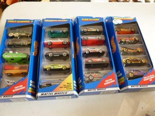 4 gift packs sealed- Hot wheels- 1997 Mattel-