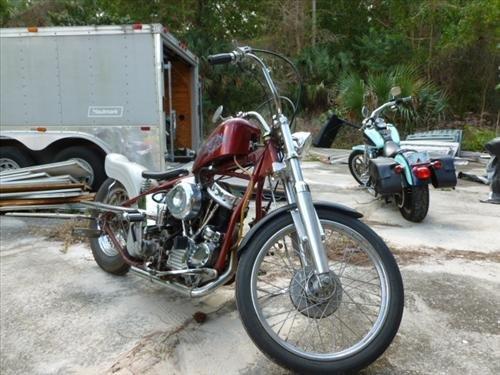 1952 Harley Pan Head-Hard tail-1958 Heads-Shotgun drag