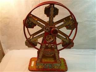 Chein Ferris Wheel-by- Chein- circa 1930-60-Litho graph
