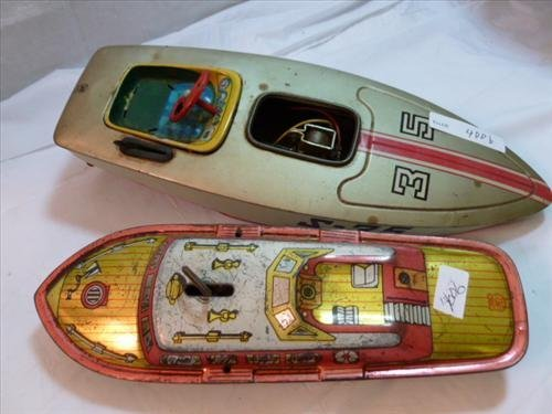 2 tin toys- boats- S-35 speed boat and Chein Mark I