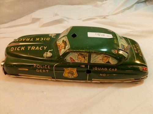 Marx Vintage tin litho- Dick Tracy Squad car #1-