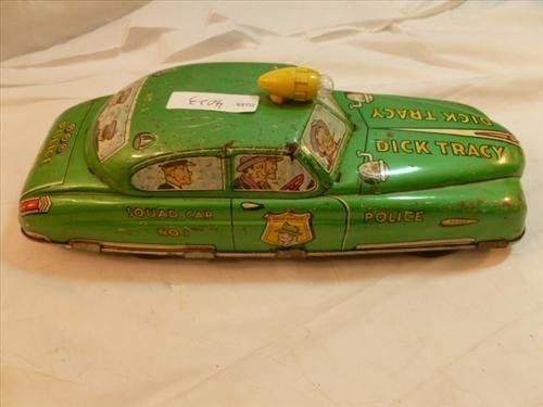 Marx tin litho Dick Tracy Squad car #1- wind up and