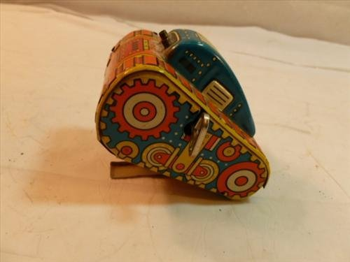 Marx roll over tin litho toy tank- #5-4 by 2 1/2 by 2-