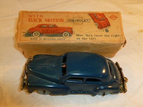 Skk Chevrolet wind up car with back motion original box