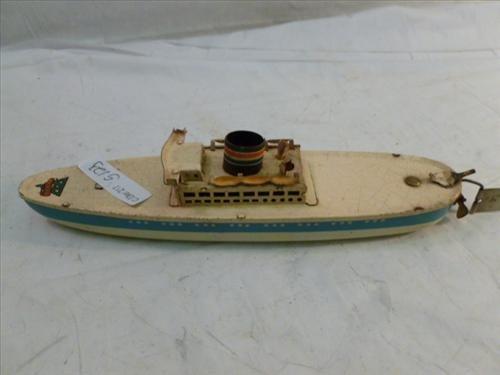 Arnold tin key wind up 1930's ship-no key- original no