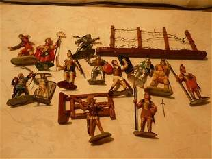 Box lot Britain's lead and plastic play set figures