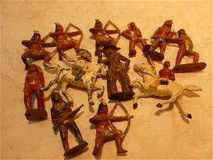 Nice big lot Barclay Manoil lead Cowboys on horses and