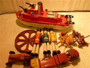 Box lot Marx-Wyandotte and Misc toys- plastic-