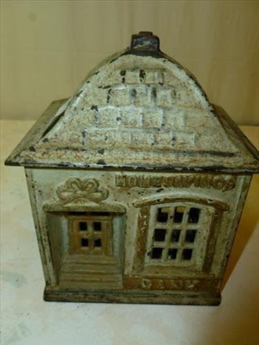 Cast Iron Still Bank- Acme Savings- original no repaint