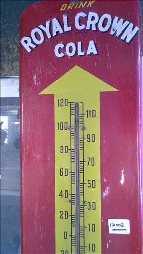 Royal Crown Cola sign w/thermometer working 1952