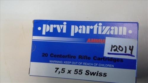 Prvi Partizan 7,5 x 55 Swiss 11,30 grain 20 rounds