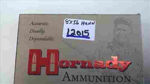 Hornady 8X56 Hunn Mann 205 gr sp #80492