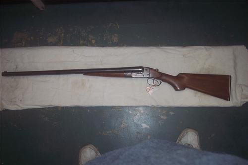 Ithaca 12 GA side by side double barrel shotgun used